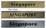 City Name TimeZone for wall Clocks  | 6 Custom Made Name Plates All World Citys
